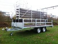 Weijer plateauwagen met Seiber opbouw