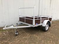 Actie enkelas aanhangwagen 200x131cm
